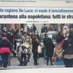 """Al Nord strade piene di gente ma Libero cita Napoli: """"Quarantena alla napoletana"""""""