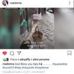 """Madonna condivide il 'panaro solidale' di Napoli: """"Che Dio vi benedica!"""""""