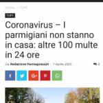 Norme anti contagio: a Parma 100 multe in 24 ore