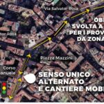 Corso Vittorio Emanuele, da lunedì attivo un nuovo cantiere a piazza Mazzini