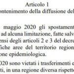 Ecco il decreto: da lunedì consentiti gli spostamenti all'interno delle regioni