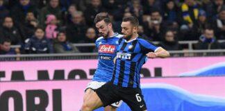 Fabian Ruiz durante Inter-Napoli, match di andata della semifinale di Coppa Italia