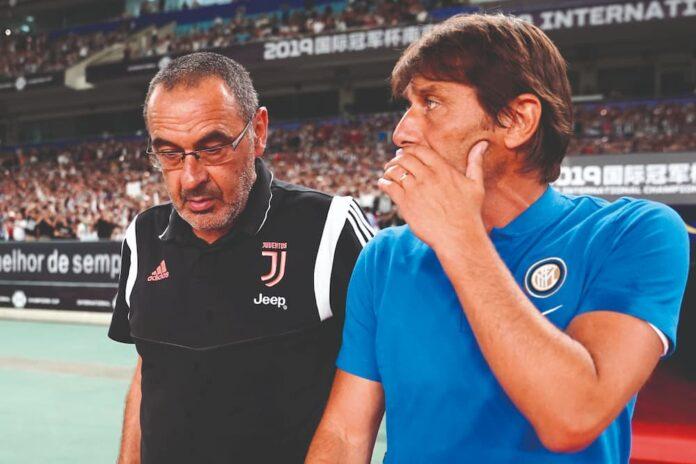 Maurizio Sarri e Antonio Conte