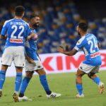 Napoli-Sassuolo: 2-0 Hysaj ed Allan regalano il successo agli azzurri