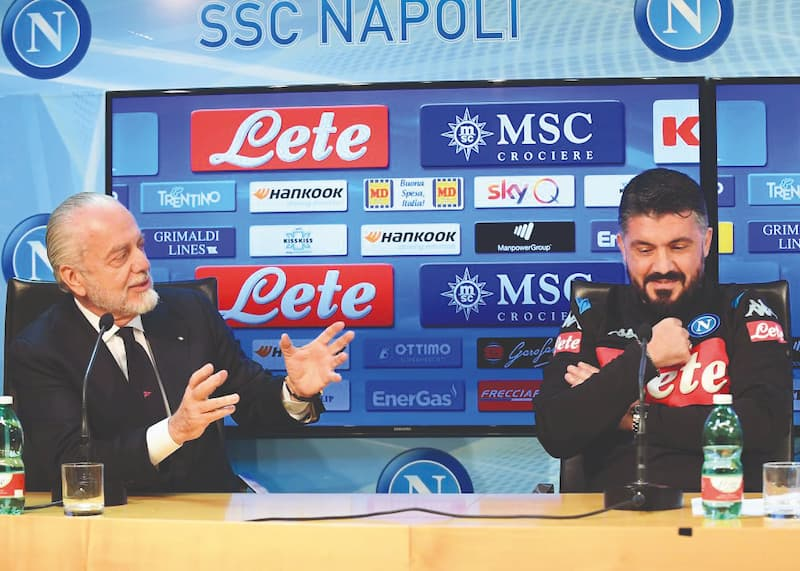 Aurelio De Laurentiis e Gennaro Gattuso