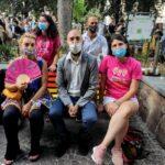 """""""Tutti i colori delle famiglie"""", inaugurate a Napoli le prime panchine rainbow"""