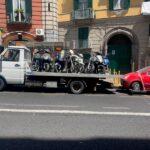 Salvator Rosa, motocicli abbandonati: maxi sequestro della Polizia Locale