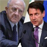 """Covid-19, De Luca scrive a Conte: """"Le nostre richieste inascoltate"""""""