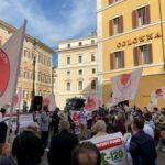 Movimento 24 agosto in piazza Montecitorio per rivendicare i diritti negati del Sud