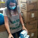 Guardia di Finanza Napoli, sequestrati 139mila dispositivi non a norma: 8mila erano destinati ai bambini