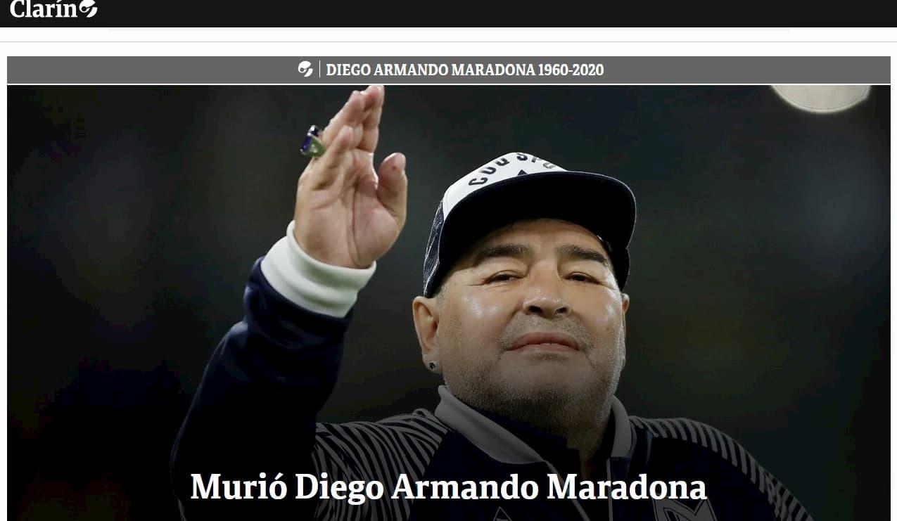 """""""Morto Diego Armando Maradona"""", l'annuncio choc dall'Argentina"""