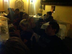 Diego a cena nell'hotel di Roma