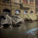 """(Video) Lungomare distrutto, de Magistris: """"Napoli tornerà a splendere"""""""
