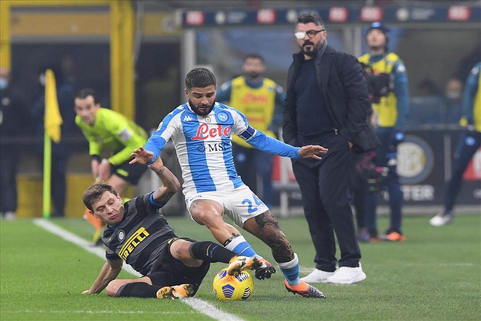 Amara sconfitta contro l'Inter, gli azzurri in 10 mettono paura a Conte ma il rigore trasformato da Lukaku è decisivo