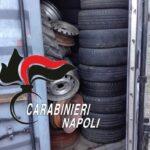 Palma Campania, soprese tre persone a disfarsi di più di 700 pneumatici