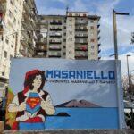 """Piazza Masaniello, presentata l'opera di creatività del progetto """"Spazi in gioco"""""""