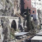 Frana ad Amalfi, proseguono gli interventi della Protezione Civile