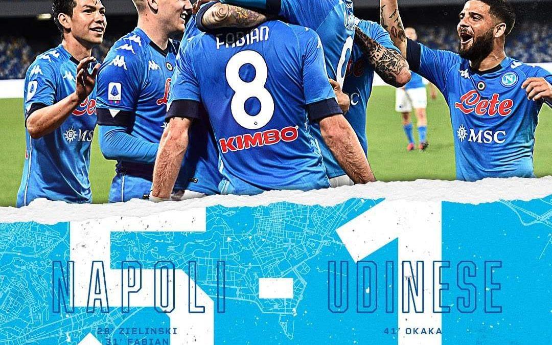 Il Napoli strapazza l'Udinese, al Maradona finisce 5-1