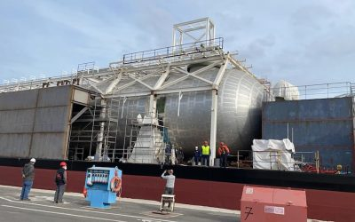 Ravenna, prima stazione di servizio galleggiante per navi alimentate a gas naturale